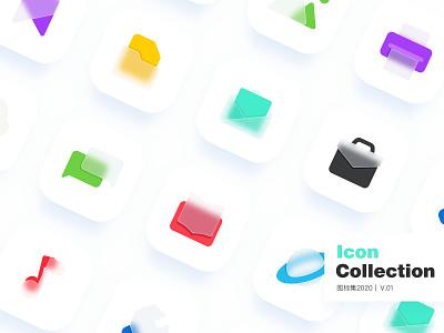 Icon collection V.015 bigsur softui logo card social ui icon sketch