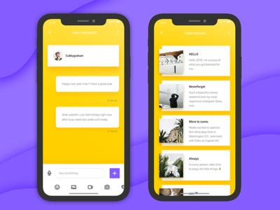 Social 3 -  Chat and display