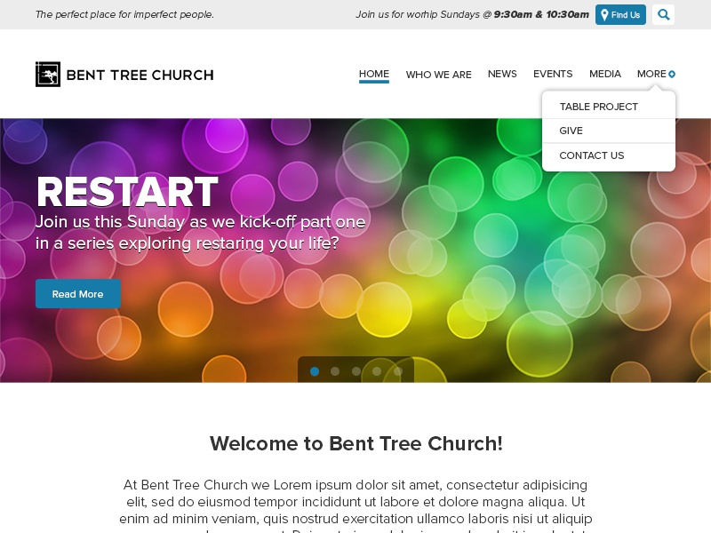 Bent Tree Church round1 church design wordpress