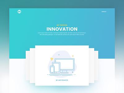 Portfolio landing design homepage minimal portfolio webdesign web gradient clean