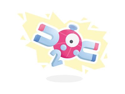 2x Dribbble Invites shot flat design illustration invite giveaway lightning electronic 2x pokémon magneton magnemite pokemon 2 invites draft two invite invitation giveaway dribbble