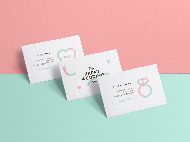 The Happy Wedding Co. business cards