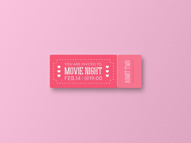 Valentine's Day Movie Night Ticket