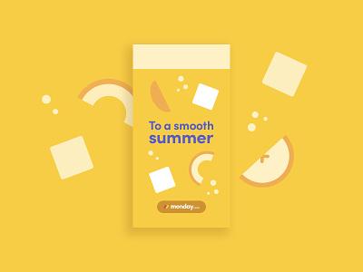 Summer treat summer smoothies watermelon monday.com graphic design illustration design logo print internal branding branding