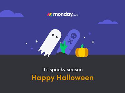 Happy Halloween happy halloween candy rip zombie trick or treat ghost pumpkin halloween typography vector logo internal branding design branding