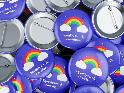 Pride swag pride rainbow pins swag vector print internal branding design branding