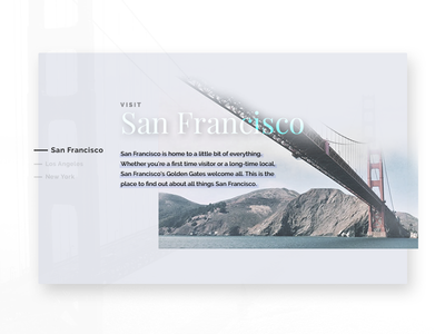 Places I would like to see - San Francisco travel  ui  ux  web  website san francisco concept