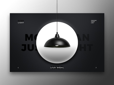 Dark vs. Light concept flat lamp minimal web design ux ui light dark white black