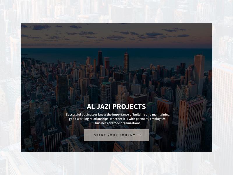 Al Jazi compound touchscreen touch blue website web web design design ux ui