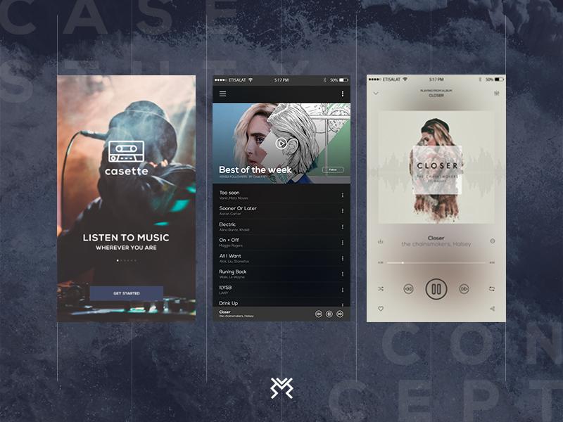 Music App Concept app music music app concept playground mobile app mobile screens blue ui ux ui design