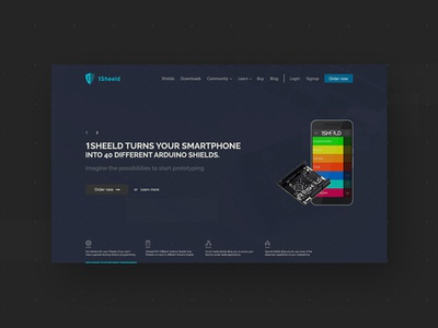 1Sheeld Website mobile smartphone arduino blue ux ui design web web design 1sheeld