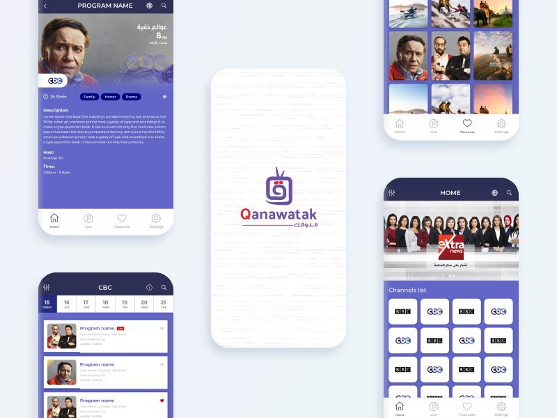 Qanawatak tv shows mobile mobile app design ux ui