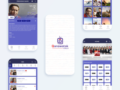 Qanawatak tv shows mobile mobile app design ux ui