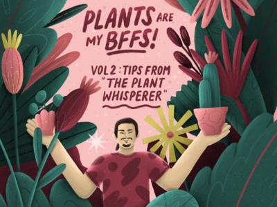 THE PLANT WHISPERER illustration editorial illustration plant plant illustration