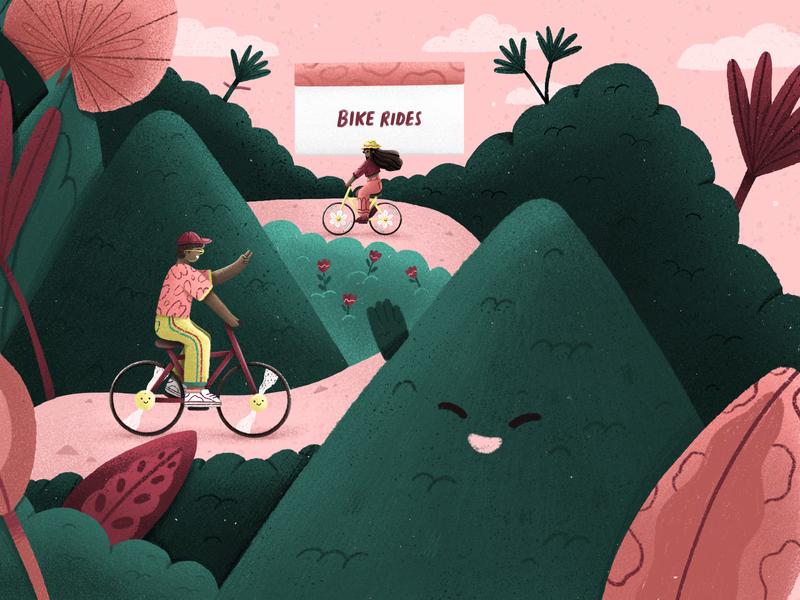 QUARANTINE art illustration bike illustration bike outside missing