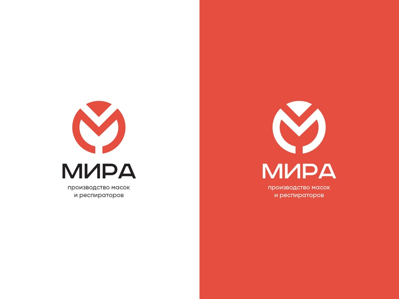 MIRA red respirator medical mask logo