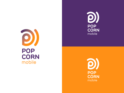POPCORN mobile esim purple orange mobile popcorn logo