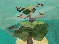 birds in a tree!
