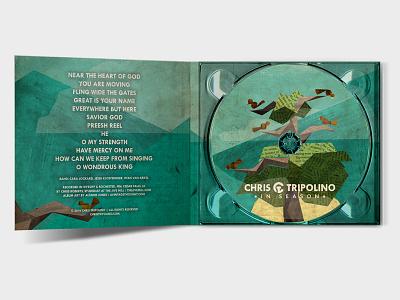 *in season* album artwork hymns psalms album art nature plant banjo tree birds illustration layout design folk