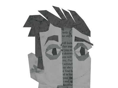 diners of conneticut - brett poetry texture portrait illustration