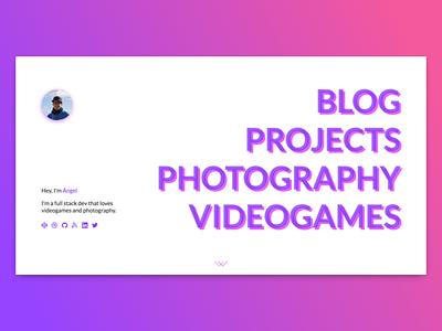New personal site concept blog portfolio personal