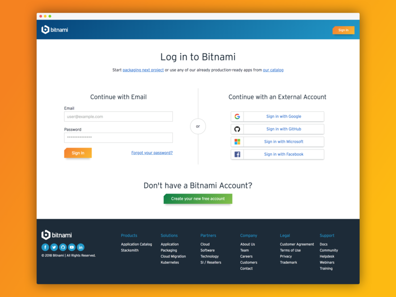 Login page prototype login page login design login form oauth orange blue sign in page sign in login