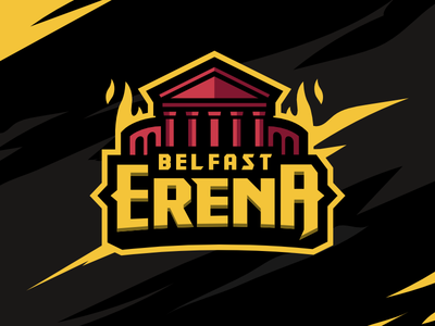 Belfast Erena creative logo northern ireland ireland belfast gamer gaming esports arena mascot graphicdesign