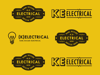 K Electrical Brand design designer creative vintage electric electrical electrician local branding brand logo