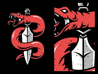 Snake and Dagger illustration branding tattoos tattoo art tattoo design tattoo dagger tattoo snake tattoo dagger snake and dagger snake