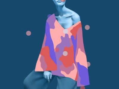 Digital Illustration Nº3 painting figurative people fashion wacom digital illustration