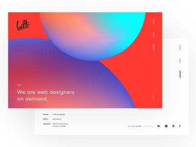 Bettr website design webdesign gradients colorful minimal ui website agency
