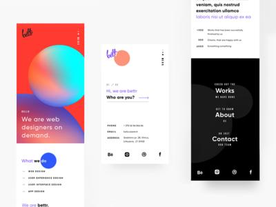 Bettr Website Responsive Design website webdesign ux ui minimal gradients colorful agency responsive mobile