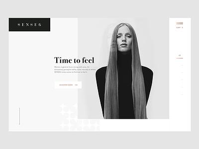 Sense6 Fashion Website Design minimal ux ui jewellery website fashion
