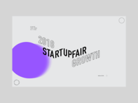 Startup Fair landing page design