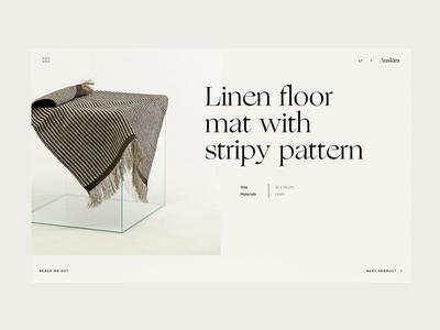'Auskim' Product Page karolinapeciu peciu motion interaction cursor website interface ux ui web