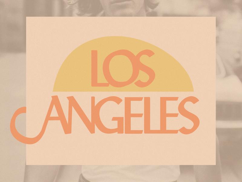 Los Angeles sunrise sun t-shirt print retro city los angeles t-shirt typography print branding illustration