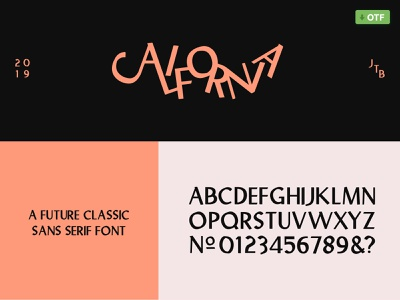 🍑California   A Future Classic Sans Serif Font 🍑 retro future classic font family simple typeface. lettering sanserif sans font designer typeface font typography california