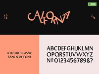 🍑California | A Future Classic Sans Serif Font 🍑