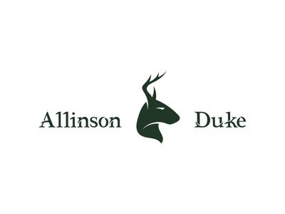 Allinson Duke logo brand rare antique vintage deer stag
