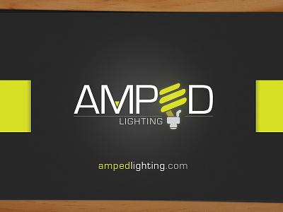 Amped Business Cards business cards logo design brand illustraitor graphic design logo