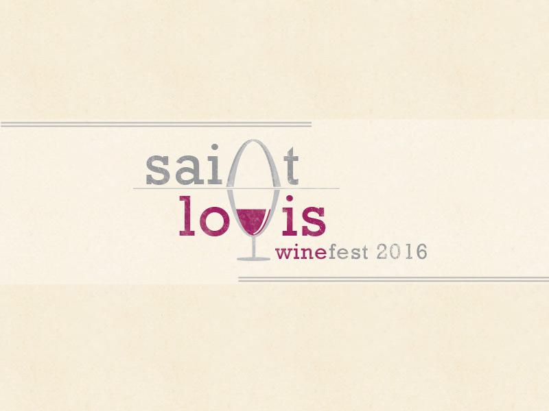 St Louis Winefest Mock Up graphic design logo vector illustator branding logo design