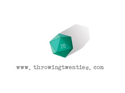 Throwing Twenties logo   My Nerdy Blog gaming dungeons  dragons dnd web design graphic design logo design dd