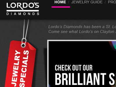 Jeweler Site web design layout ux interface graphic design