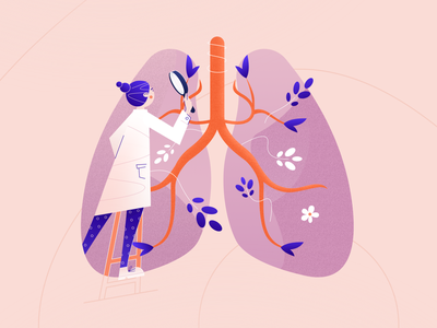 Control your breath branding vector art ui graphic illustration design