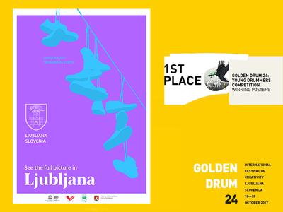 Golden Drum 24: Young Drummers - Winning Poster #2