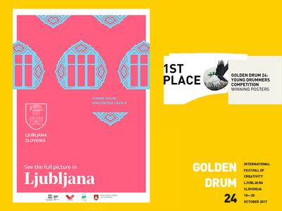Golden Drum 24: Young Drummers - Winning Poster #3