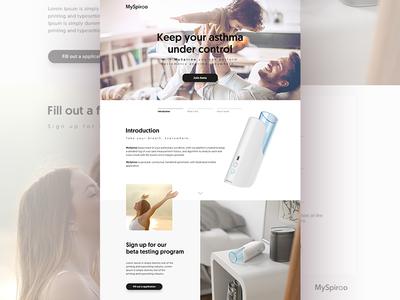 MySpiroo - Landing Page WIP