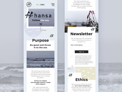 Hansa Wear - Landing Page (Mobile)