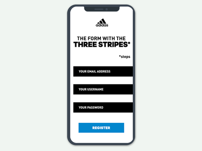 Adidas Registration Form Redesign - Daily UI - Day 1