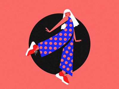 Japonka Dot vector illustration art ui design